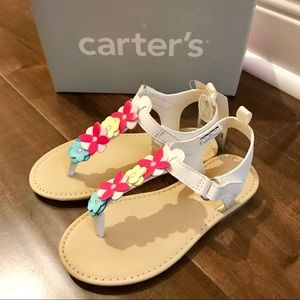 Brand New Carter's Girls Flat Sandal Shoes Size 11